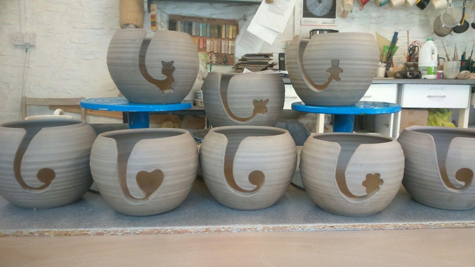 More yarn bowls ready for firing Yarn bowl, Rustic