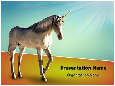 Unicorn White Horse Powerpoint Template Is One Of The Best