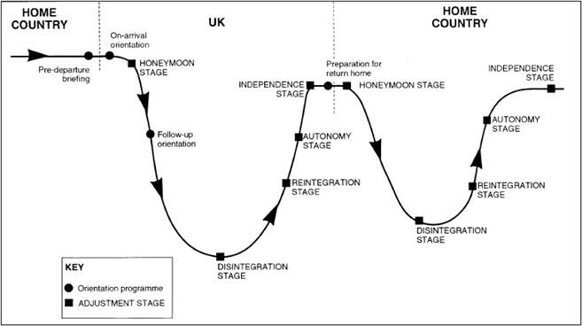w curve stages of culture shock culture shock and  essay culture shock the classic 5 stage culture shock model dr deborah swallow