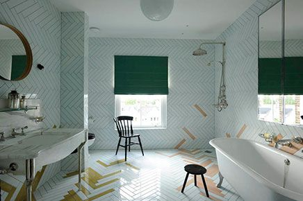 Antieke vintage moderne badkamer bathroom badkamer