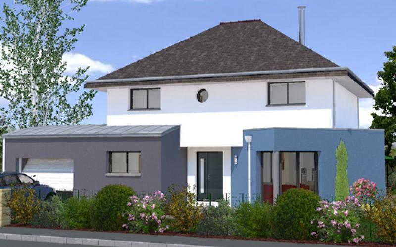 Maison contemporaine 4 chambres avec mezzanine, dressing et garage ...