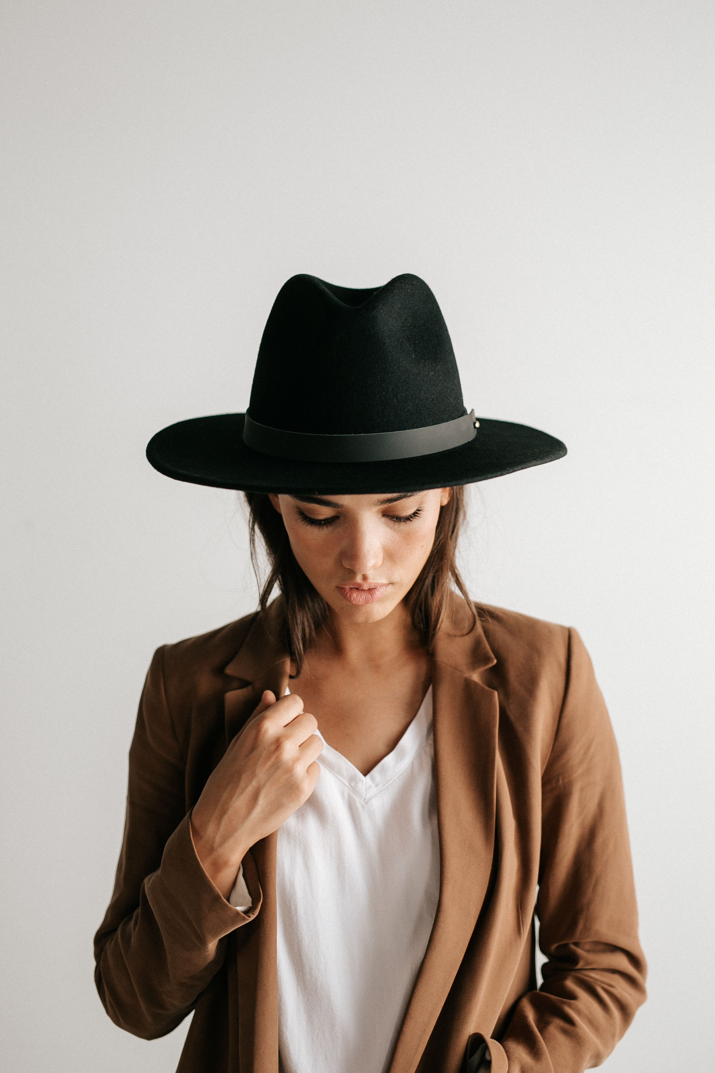 Wes Fedora Black In 2021 Monroe Hat Outfits With Hats Women Hats Fashion