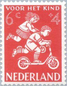 The Netherlands Postage Stamp 1958