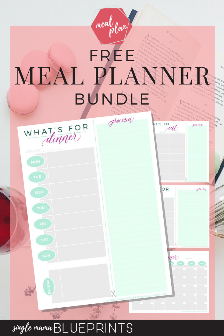 free meal planner bundle for your weekly bi weekly monthly meal