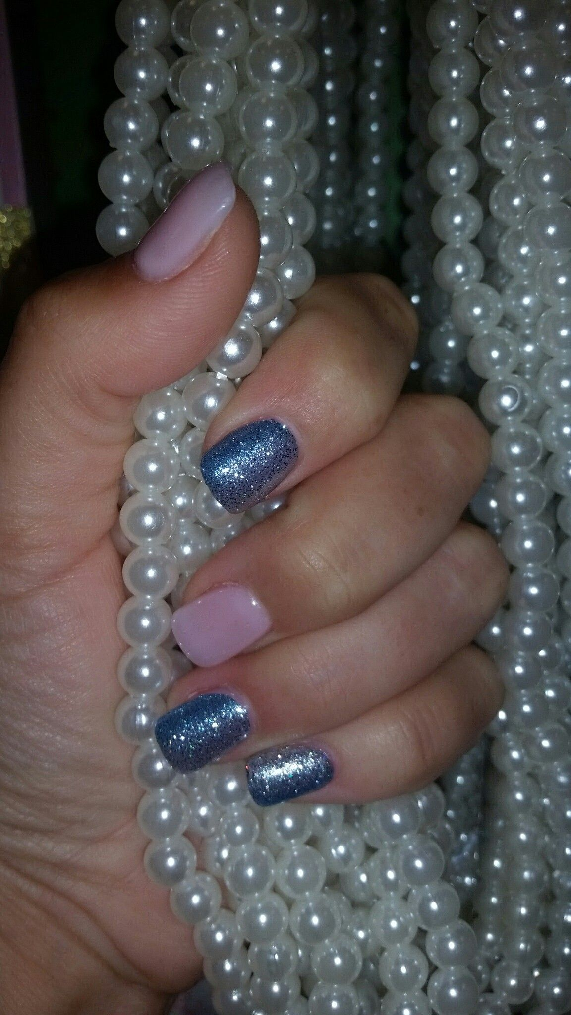 These are my nails with Color STREET product on them (the sparkly ...