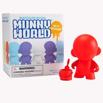 MunnyWorld Micro Raffy Multicolor Kidrobot Teal