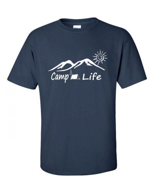 Camping Shirt Tumblr Shirt Hiking Shirt Nature Shirt Happy Camper Shirt Camp Life Valentines Gift
