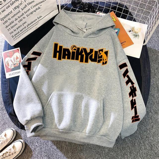 Photo of anime prints Men's new fashion hoodies with hood – gray / XL