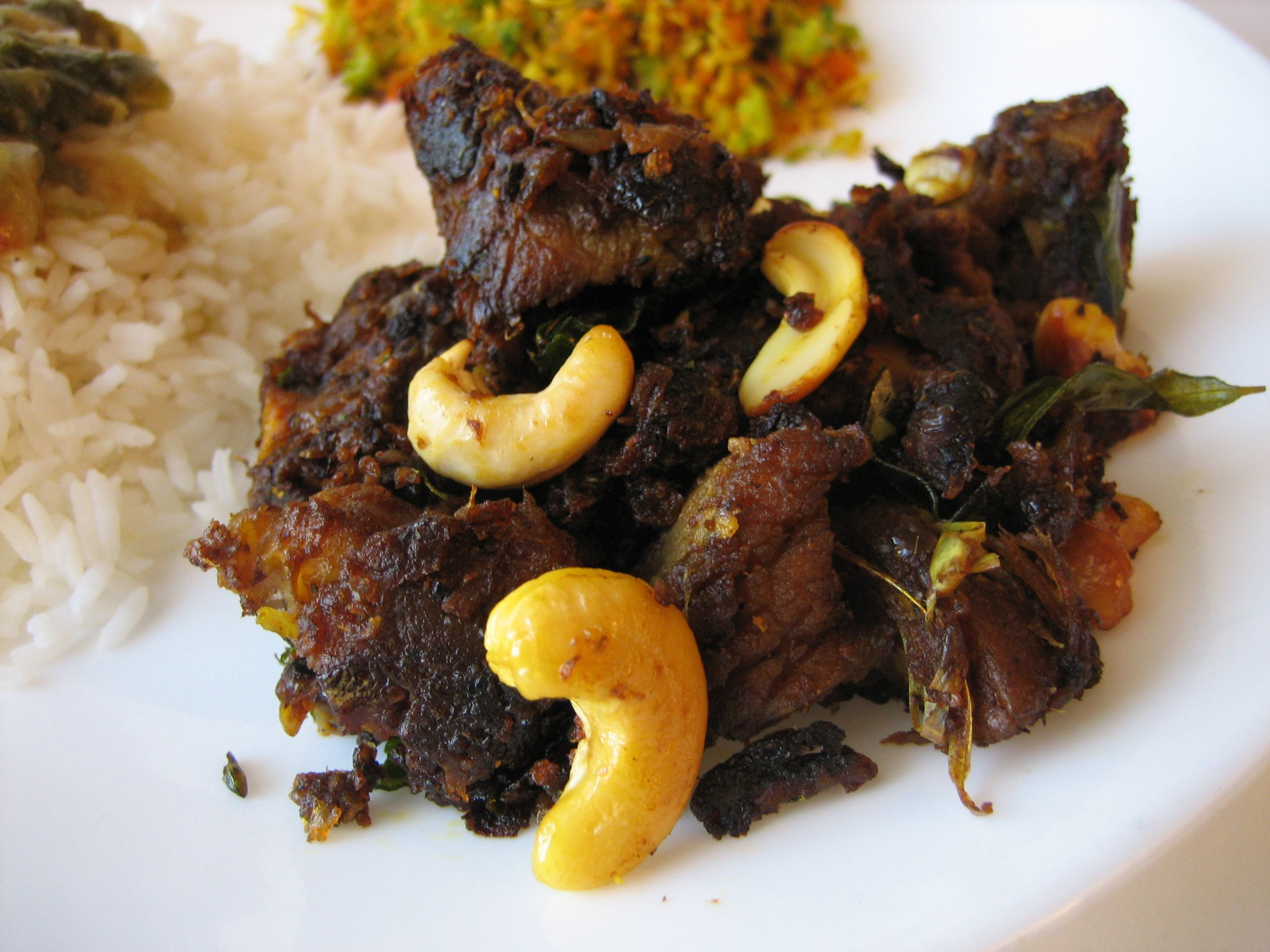 Goat liver with dill leaves indian kitchen cooking recipes - Food