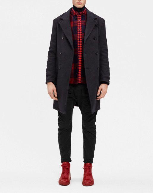Ralph Unlined Topcoat Blue/Black - Outerwear - Shop Man - Filippa K