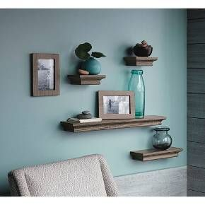 Threshold Floating Shelves Delectable Threshold™ Traditional Shelf And Frame Set Of 6 Grey Wash Color Design Ideas