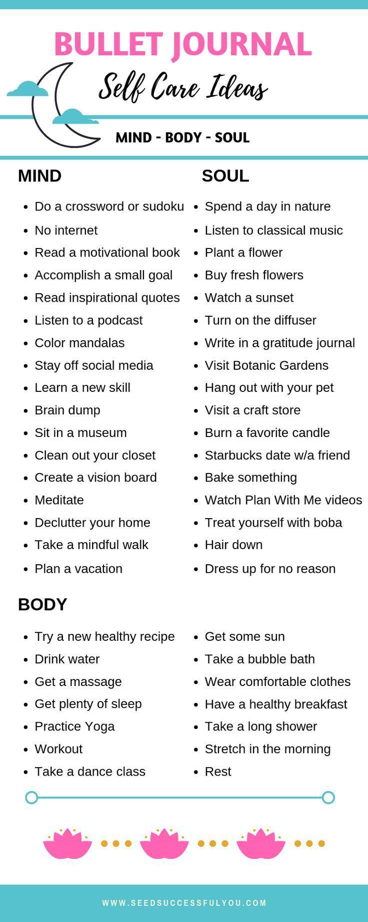 48 Bullet Journal Idee per la cura di sé per una mente, un corpo e un'anima sani!