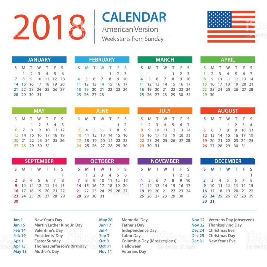 free printable calendar 2018 with holidays
