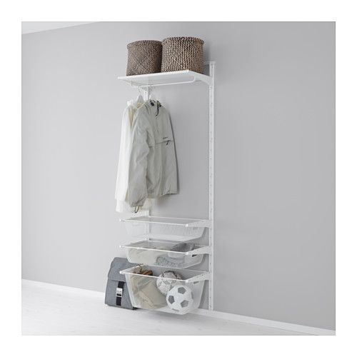 Algot Wall Uprightmesh Baskets White Wardrobe Rangement Mural