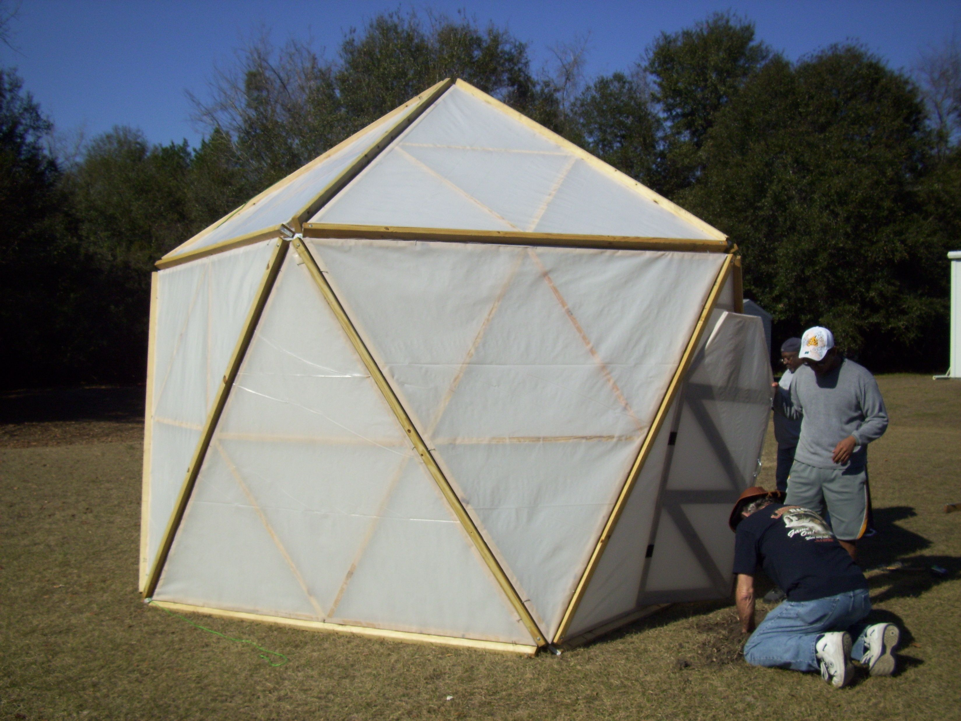 Geodesic Greenhouse The First Geodesic Dome Greenhouse