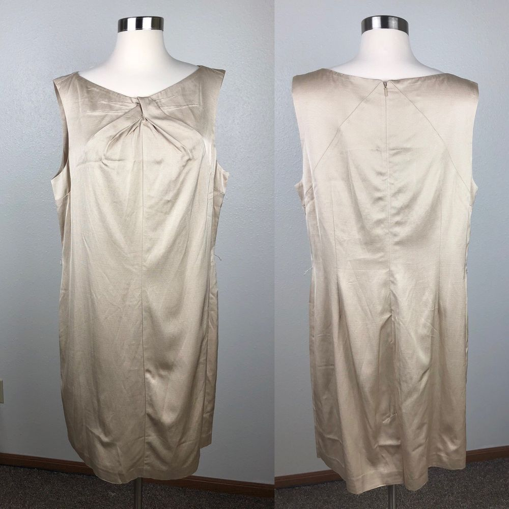 837cf8406af NEW NWT Talbots gold sheath sleeveless dress size 18 with tie belt holiday  NYE  fashion  clothing  shoes  accessories  womensclothing  dresses (ebay  link)