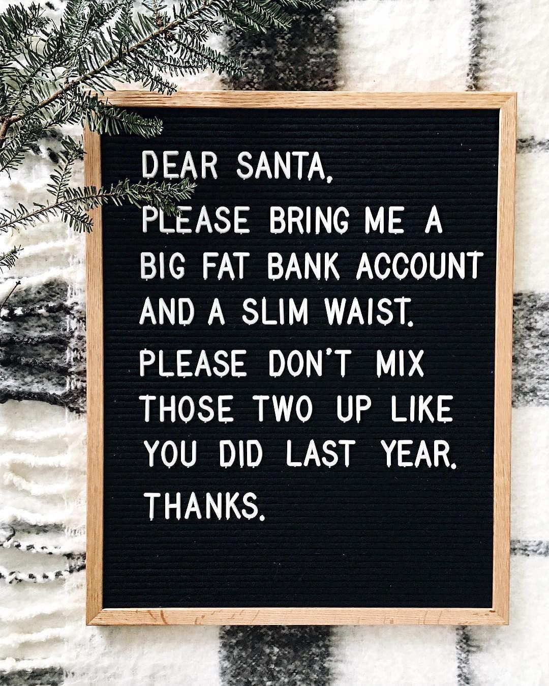 Dear santa Funny quotes, Funny christmas messages