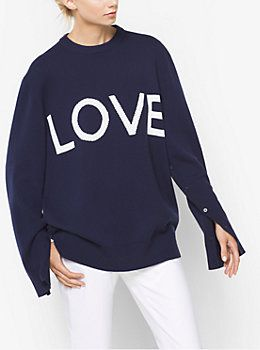 4f7d57c5937ac6 Love Intarsia Cashmere Oversized Pullover by Michael Kors | MY STYLE ...