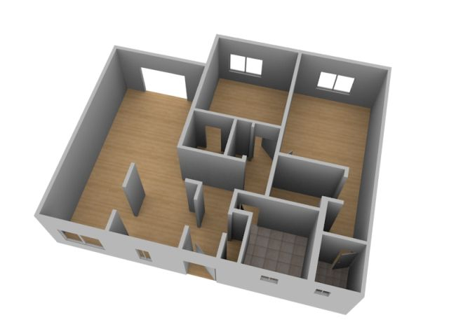 Create a 3d floor plan model from an architectural for Creation plan 3d