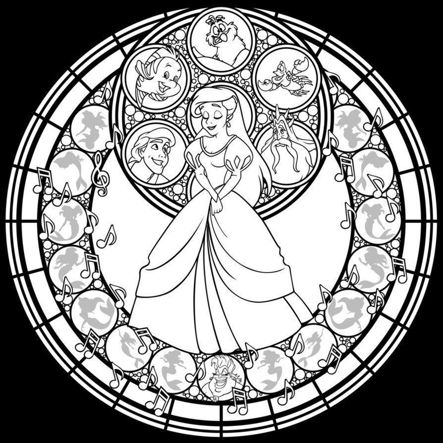 Stained Glass Coloring Pages Beautiful 20 Luxury Kingdom Hearts Coloring Pages In 2020 Disney Stained Glass Mandala Coloring Pages Princess Coloring Pages