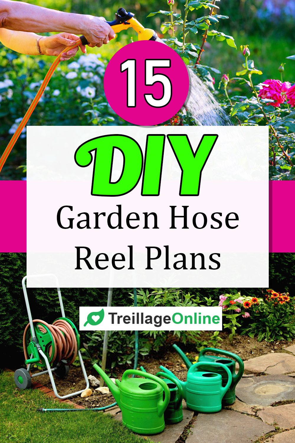 Using a hose reel is a great way to store your hose and prolong the longevity of the pipe. We have curated from the internet 15 amazing do-it-yourself garden hose reel plans to get you busy around your garden. Most of these plans are easy to carry out and do not require high technical skills to construct.