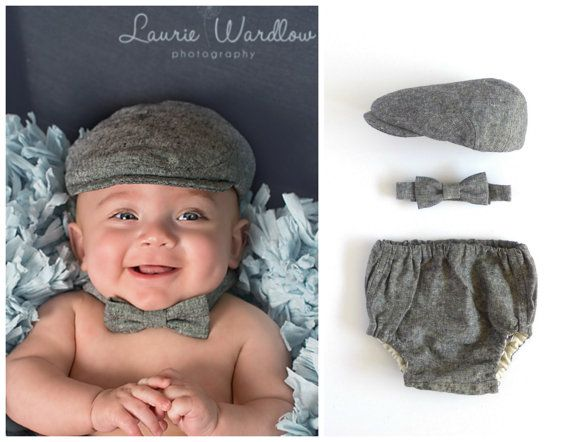 gray newborn 0-3 months pink blue red Baby newsboy outfit preemie 3-6 months grey hat diaper cover set baby newsboy clothes