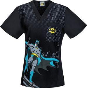 9136830bd1e Cherokee Tooniforms DC Comics The Batman Scrub Top | C.N.A | Scrub ...