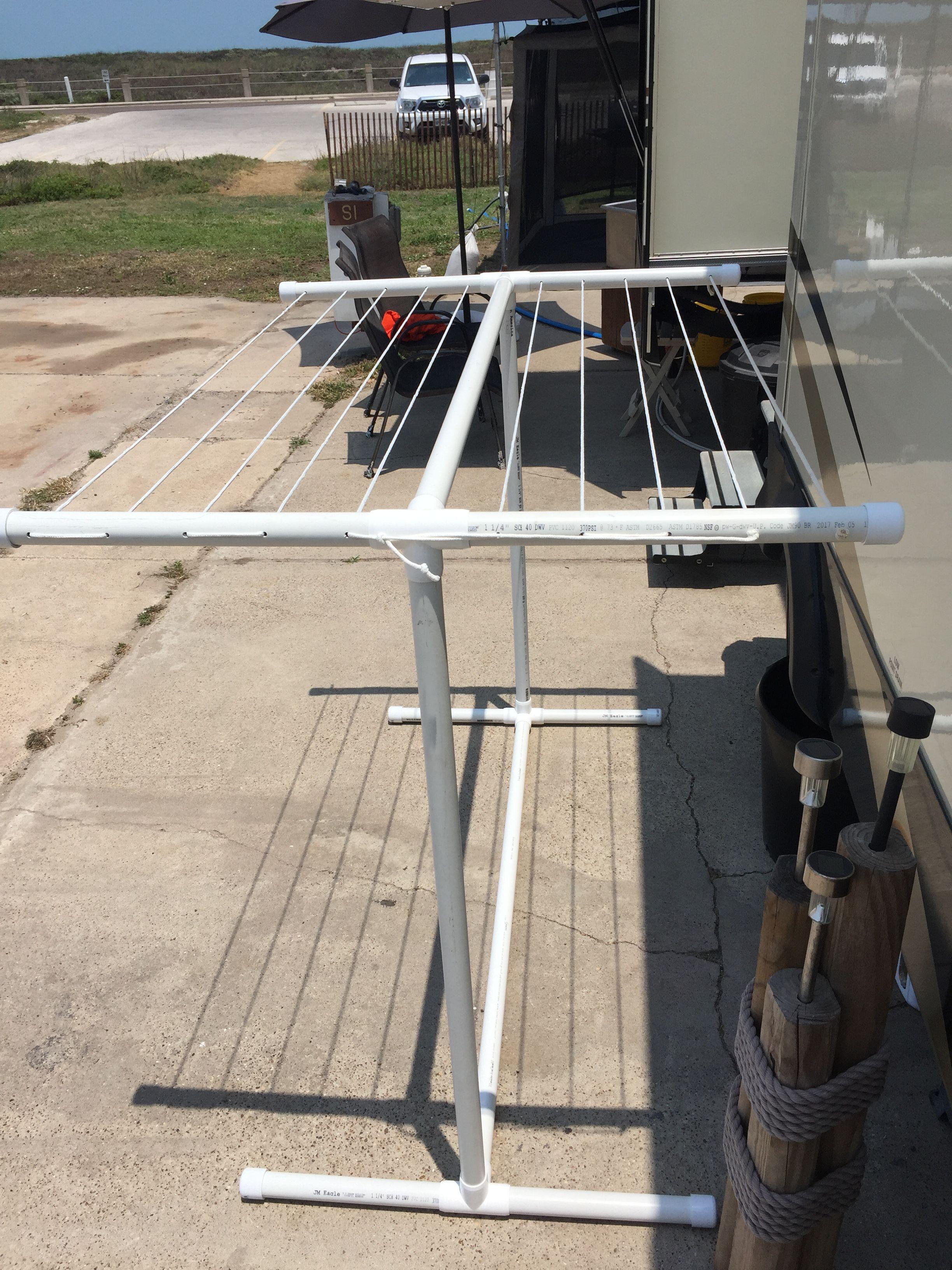 pvc outdoor clothesline clotheslines pinterest pvc pipe