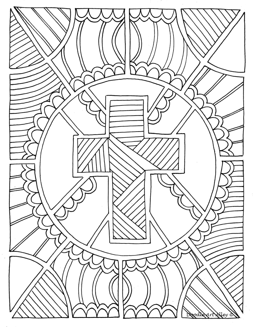 Pin By Marille Neufanger On Ecole Paques Christian Coloring Cross Coloring Page Christian Coloring Book