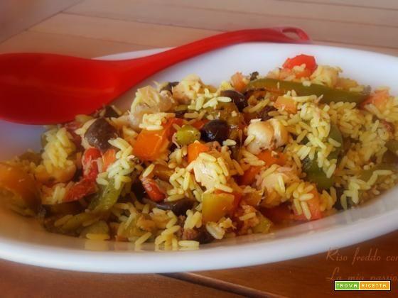Riso freddo con peperoni grigliati  #ricette #food #recipes