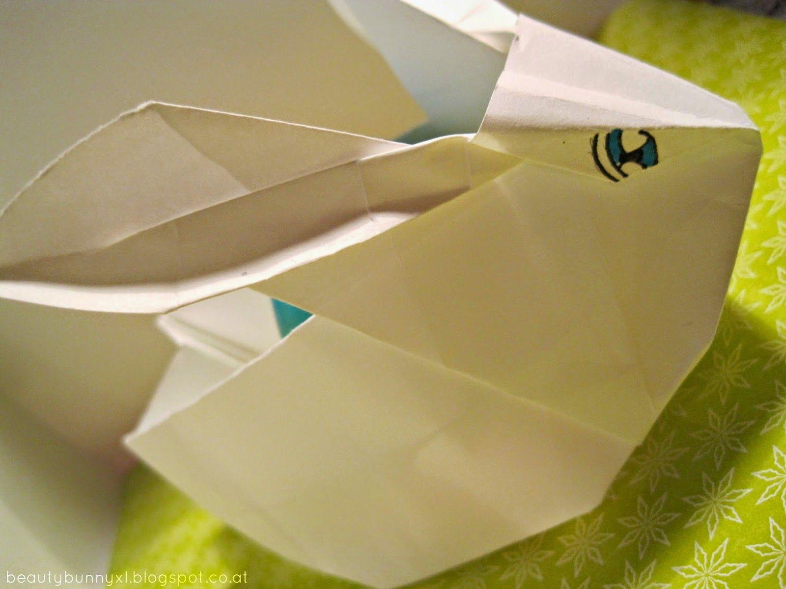 diy origami hase und k ken. Black Bedroom Furniture Sets. Home Design Ideas