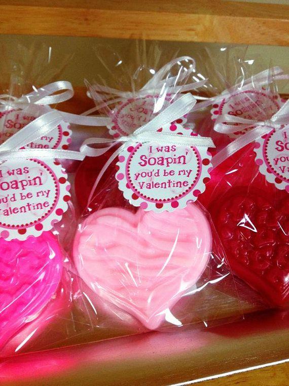 10 Heart Soaps Valentine Day School Favor Teacher Gift