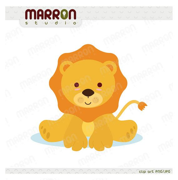 Cute Baby Lion Kawaii Style Clip Art For Birthdays Or By Elmarron 2 49 Lion Clipart Baby Animal Drawings Baby Lion