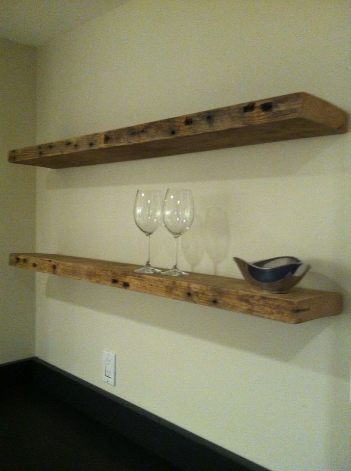 new product ed165 efef8 Floating shelves made with reclaimed oak 2x6 from a ...