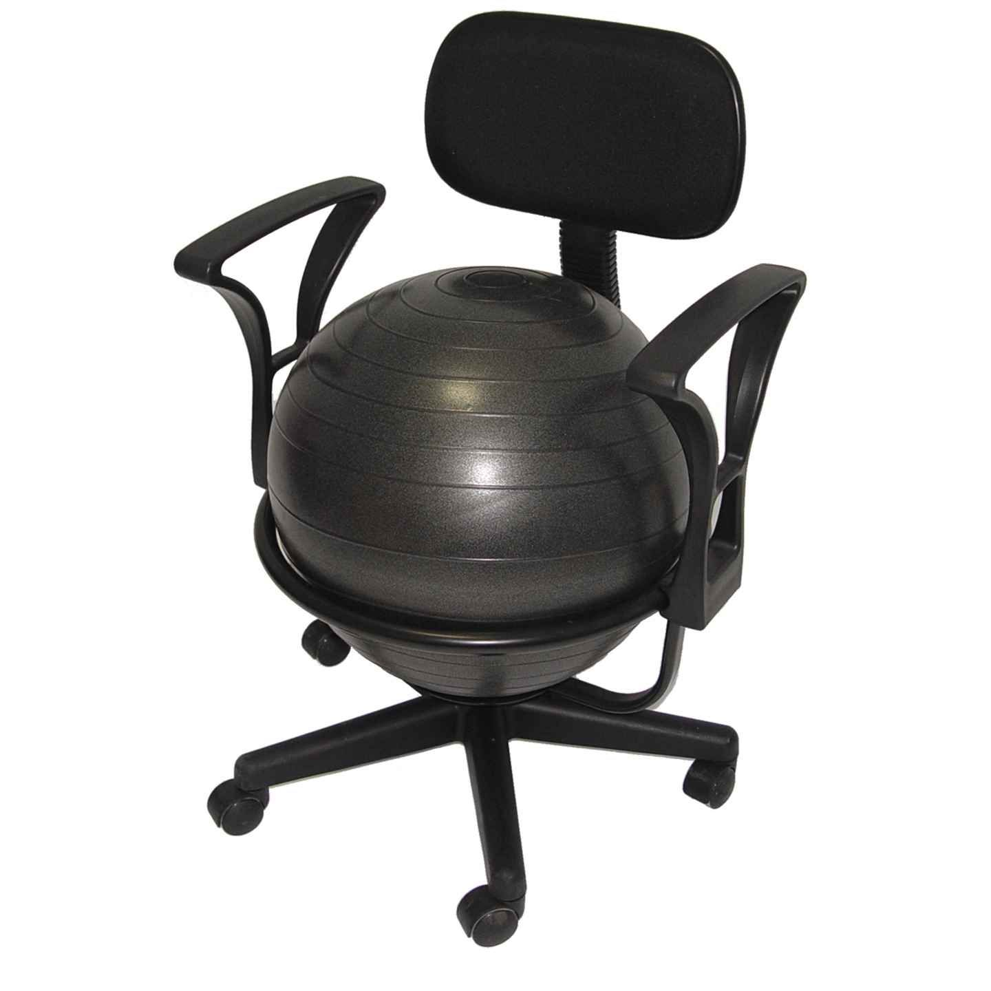 Aeromat black deluxe ergo ball chair studio finds