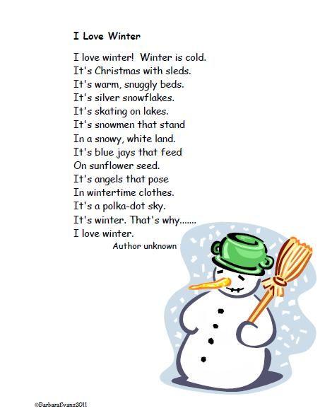 Winter Poem Freebie