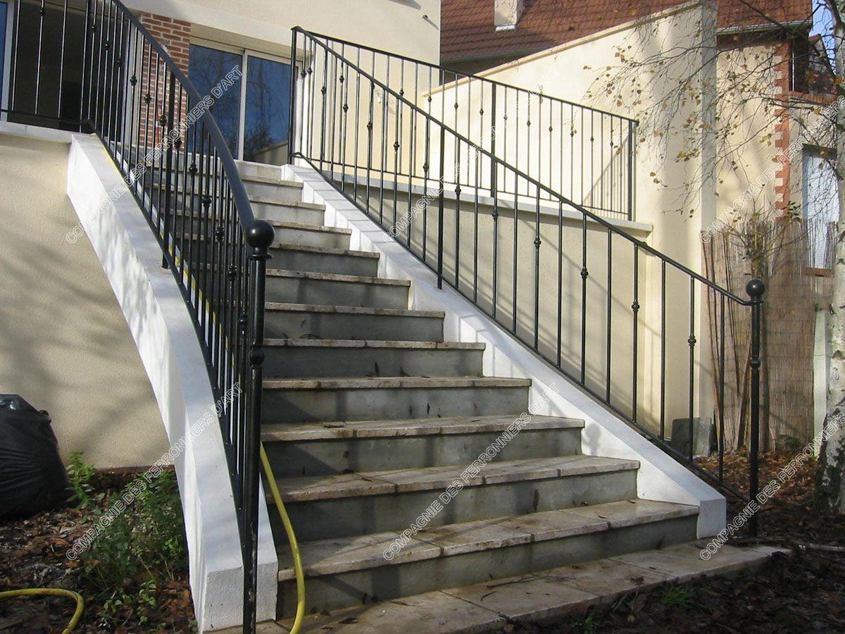 Rampe Escalier Exterieur Fer Forge En Ce Qui Concerne Rampes