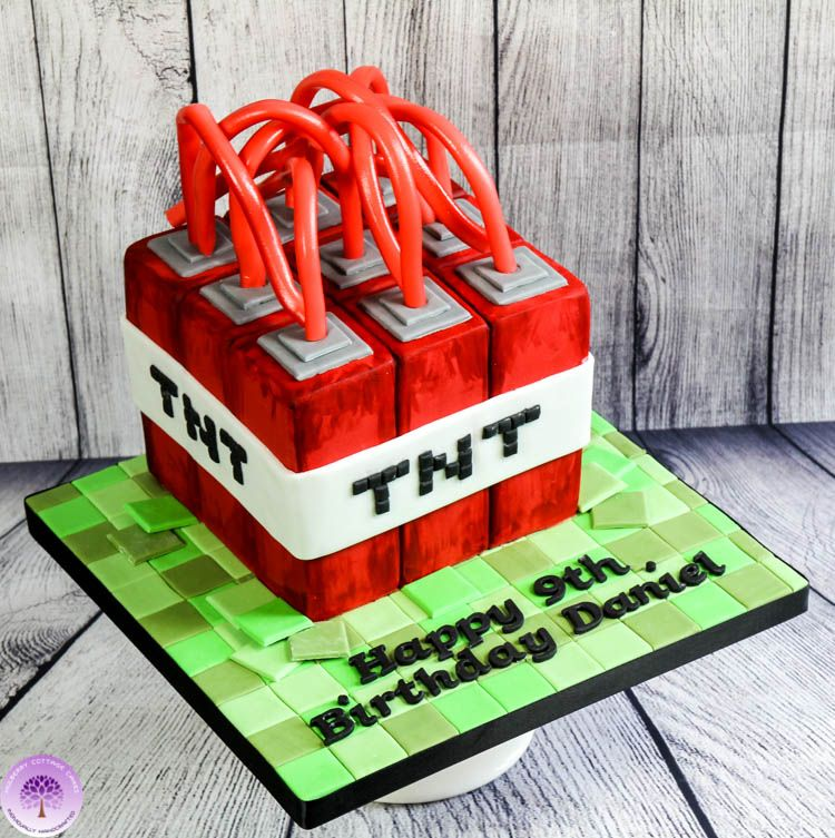 Minecraft Tnt Birthday Cake By Mulberry Cottage Cakes Mulberry