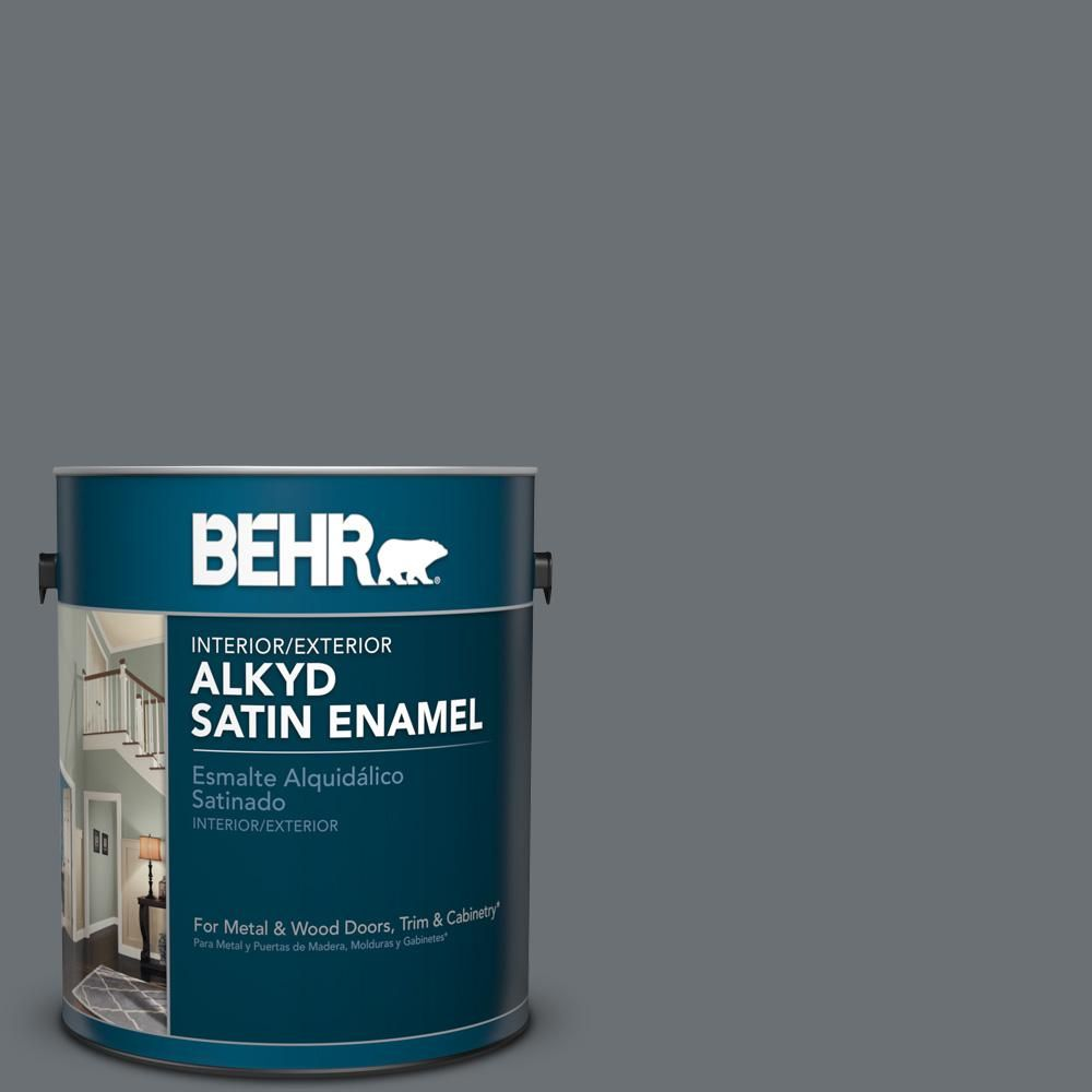 Behr 1 Gal Ppu18 03 Antique Tin Urethane Alkyd Satin Enamel Interior Exterior Paint 793001 The Home Depot Exterior Paint Interior Paint Interior And Exterior