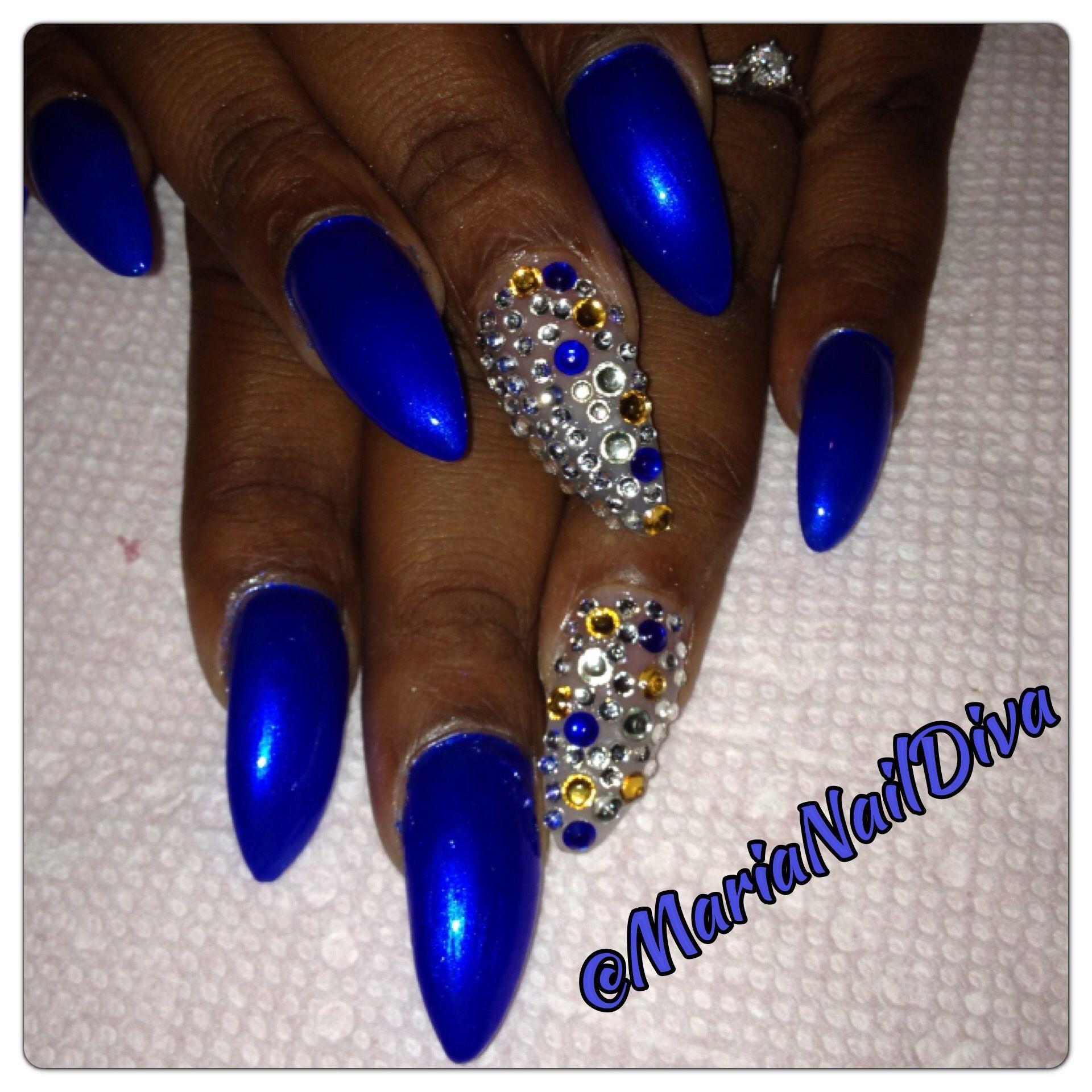 Stilettonails By Baton Rouge Naildiva Maria Trendy Nail Design Bling Nails Trendy Nails