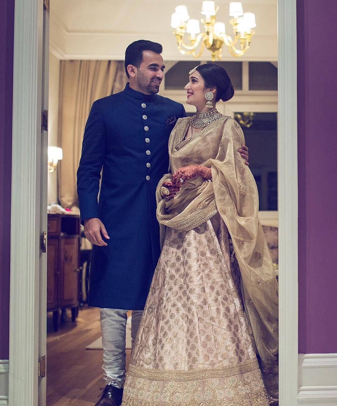 Blue achkan by Raghuvendra Rathore for Grooms groomwear