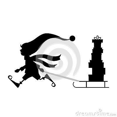 Weihnachtselfen vektor abbildung. Illustration von feiern - 79287744