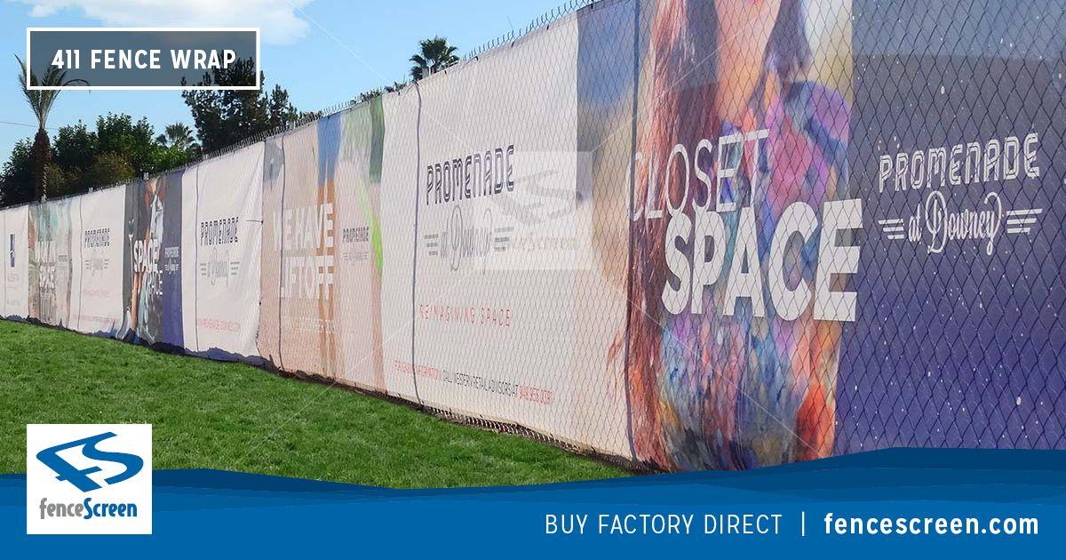 Pvc Mesh Fence Wraps Full Color Custom Printed On Maxflex Mesh Outdoor Vinyl Banners Vinyl Banners Mesh Banner