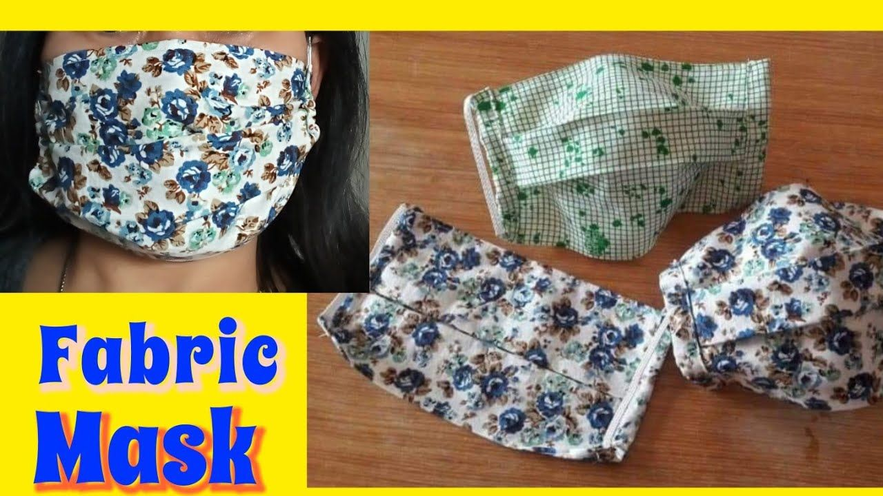 How to sew a simple Fabric Face Mask YouTube in 2020