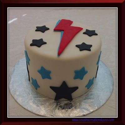David Bowie Cake Cousin S Creations Birthday Cakes For