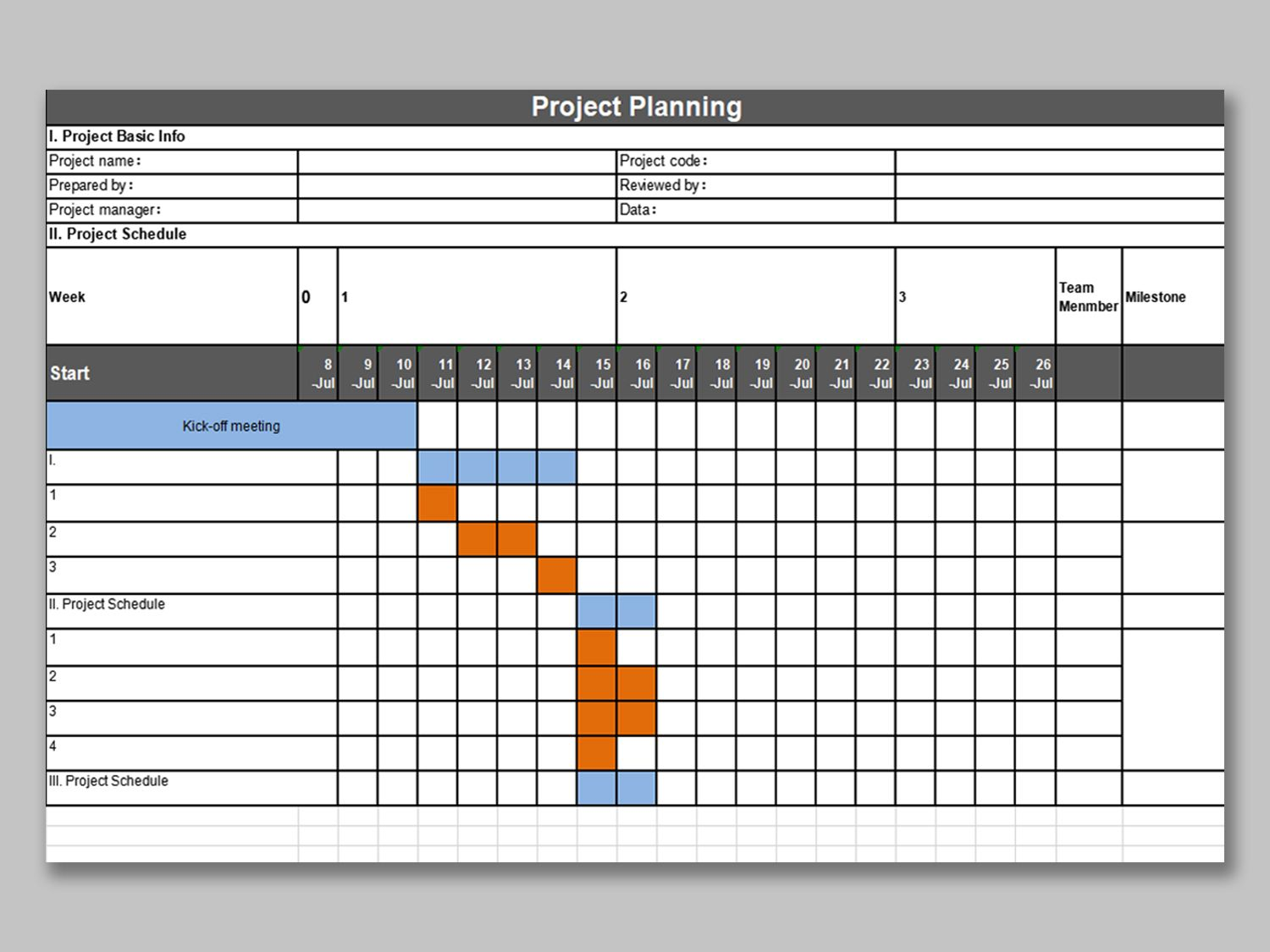 Free Project Management Plan Template In Excel Spreadsheettemple Project Management Business Case Template Project Management Templates Project management plan template excel