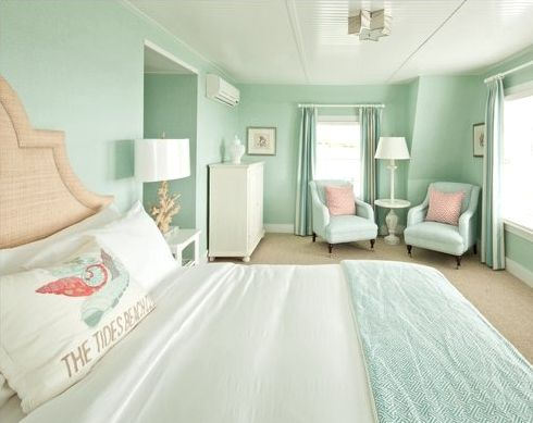 Pastels Are Perfect In The Master Bedroom Green Bedroom Walls Mint Green Bedroom Seafoam Green Bedroom