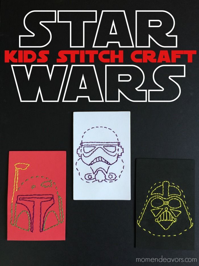 Star Wars Stitch Craft for Kids (with free printable templates ...