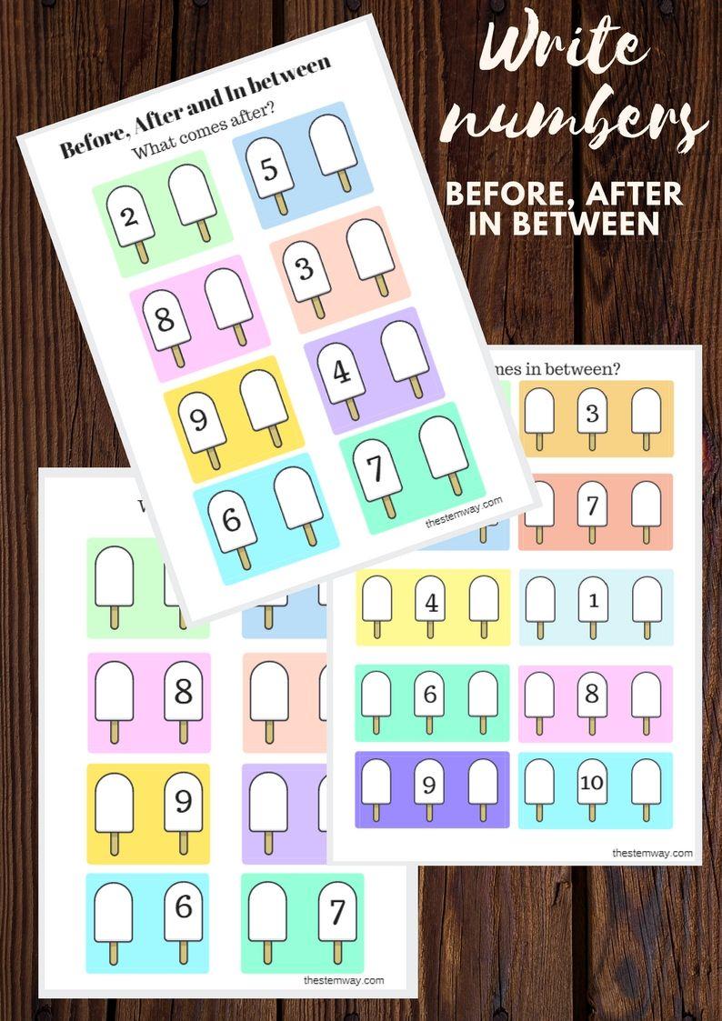 Worksheet Write Numbers Before After And In Between Math Activities Preschool Numbers Kindergarten Alphabet Letter Crafts [ 1123 x 794 Pixel ]