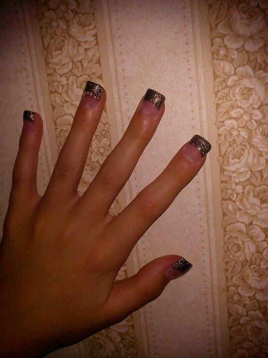 cute acrylic nail tip design
